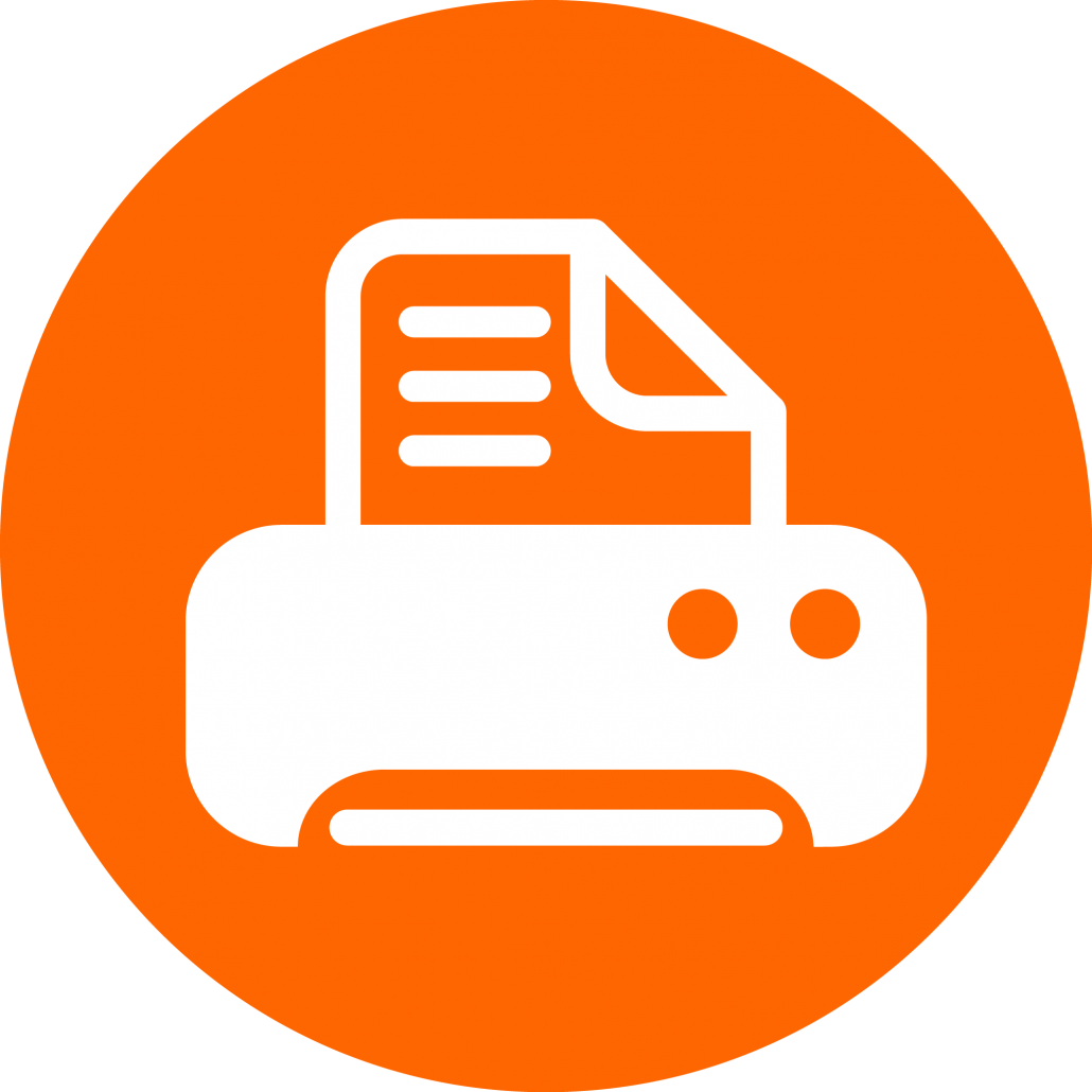 print icon virtual head office small business support