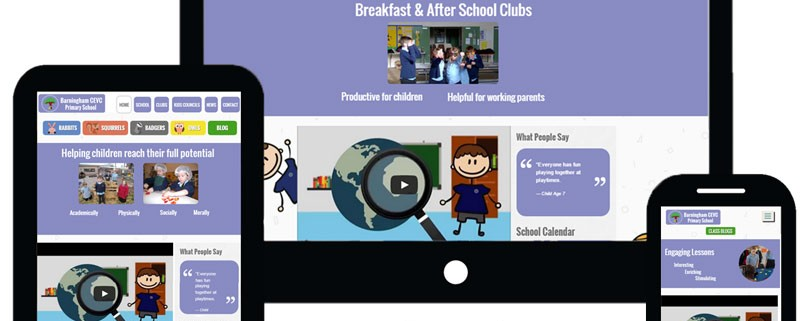 School Animation & Website