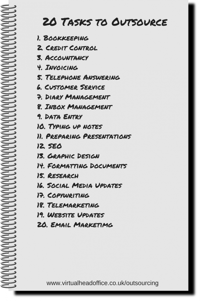 Outsourcing - 20 Tasks To Outsource